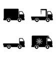 icon set delivery car vector image