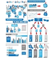 INFOGRAPHIC DEMOGRAPHICS POST IT BLUE vector image vector image