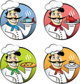 Italian cartoon chef vector image
