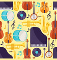 jazz music seamless pattern with musical vector image vector image