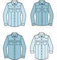 jean shirt set vector image