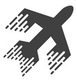 jet plane with fast motion effect vector image