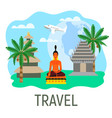 journey in indonesia bali vector image