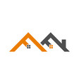 logotype for housing construction with new vector image vector image