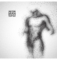 Man torso Graphic drawing with black particles vector image vector image