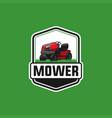 mower logo template vector image