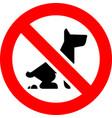 no fouling dog forbidden sign modern round sticker vector image