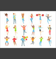people having fun at party set of vector image vector image