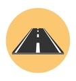 Piece of road flat icon vector image