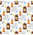 Pills seamless pattern vector image