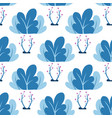 plants leaves trees seamless pattern in vector image