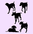 pointer dog silhouette 02 vector image vector image
