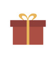 present flat design icon vector image