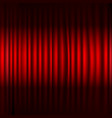 red stage curtain with black border vector image vector image