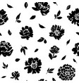 seamless pattern with peonies roses vector image