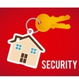 securty home vector image