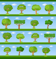 set of decorative stylized tree vector image vector image