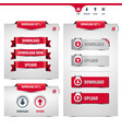 set of download and upload buttons vector image