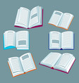set of open books for education vector image