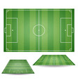 set of top and side view of football fields textu vector image