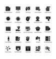 set web and seo glyph icons vector image vector image
