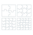 sets puzzle pieces 2 x 2 vector image vector image