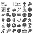 sport glyph icon set game symbols collection vector image
