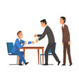 successful negotiations business partners meeting vector image