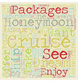 Take an Unforgettable Dream Honeymoon Cruise text vector image vector image