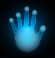 technology cyber security hand palm binary vector image