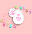 template poster eggs color vector image