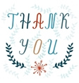 Thank You hand lettering card vector image