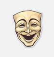 theatrical comedy mask vintage opera mask vector image