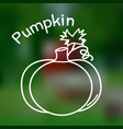 thin line pumpkin icon vector image vector image