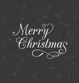 typography merry christmas vector image