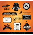 vintage halloween labels and frames vector image vector image