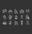 volunteering chalk icons set reliance vector image vector image