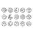 waves flowing spheres art abstract design template vector image vector image