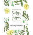 wedding invite invitation card floral greenery vector image vector image