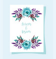 wedding ornament floral nature decorative greeting vector image vector image