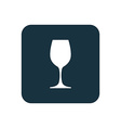 wineglass icon Rounded squares button vector image