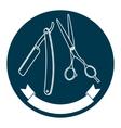 Barber shop logo template vector image