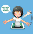answer your phone vector image vector image