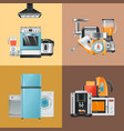 appliances realistic home electrical equipment vector image