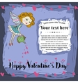 appy Valentines Day card vector image vector image