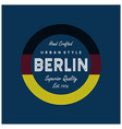berlin typography for t shirt vector image vector image