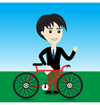 Bicycle Salesman vector image vector image