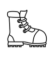 Boot footwear icon design vector image vector image