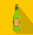 bottle beer icon flat style vector image vector image