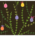 branch easter pattern vector image vector image